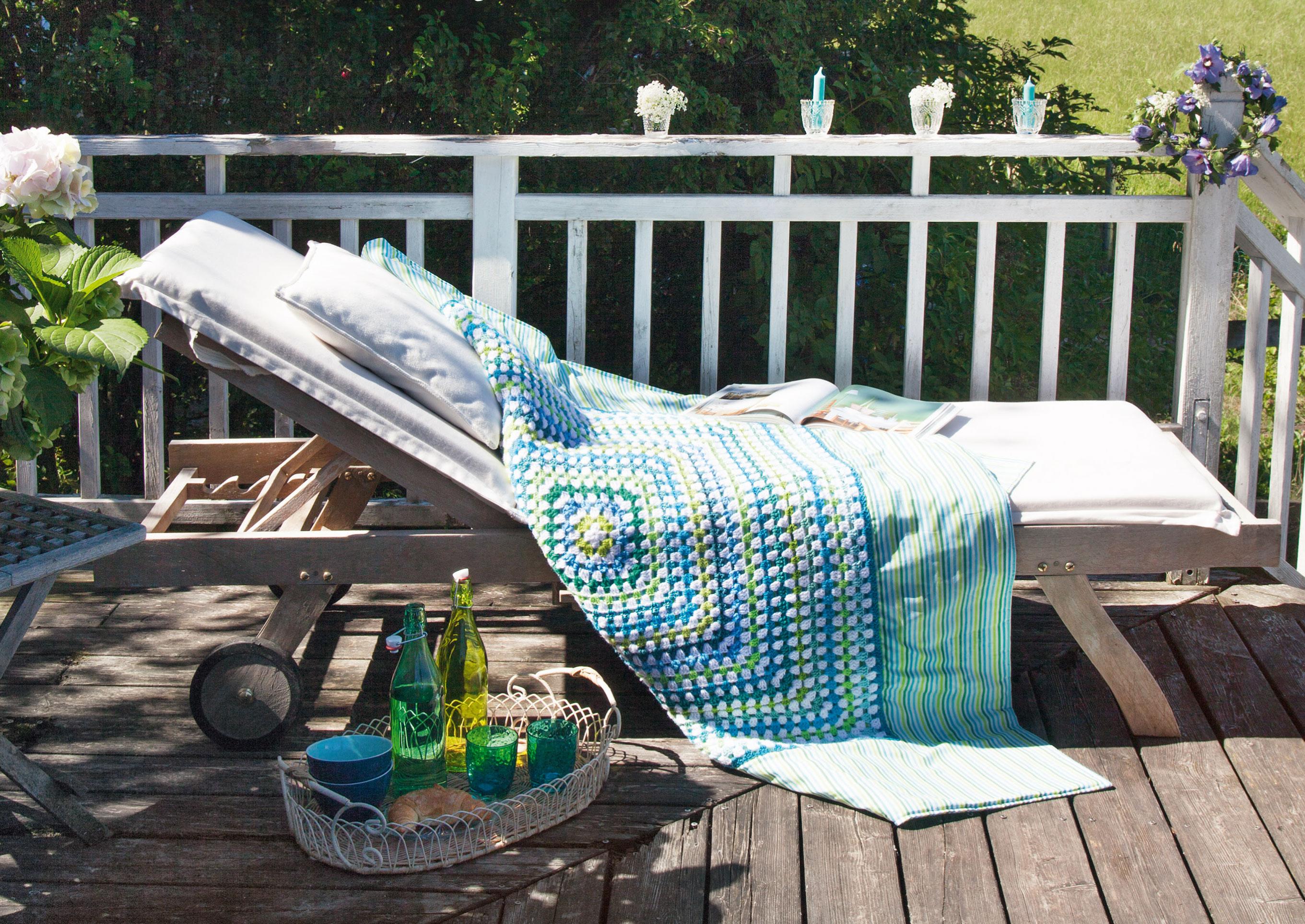 Häkeln für die Gartenparty: Sommerliche Granny-Muster | LandIDEE Magazin