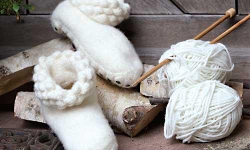 Hüttenschuhe stricken