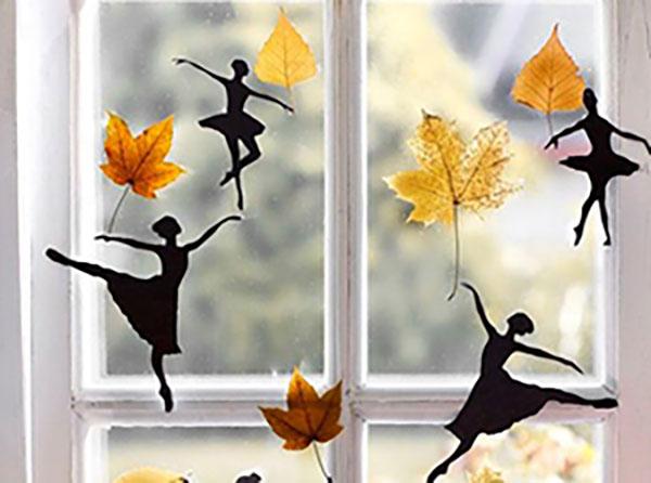 Herbstlicher Blättertanz