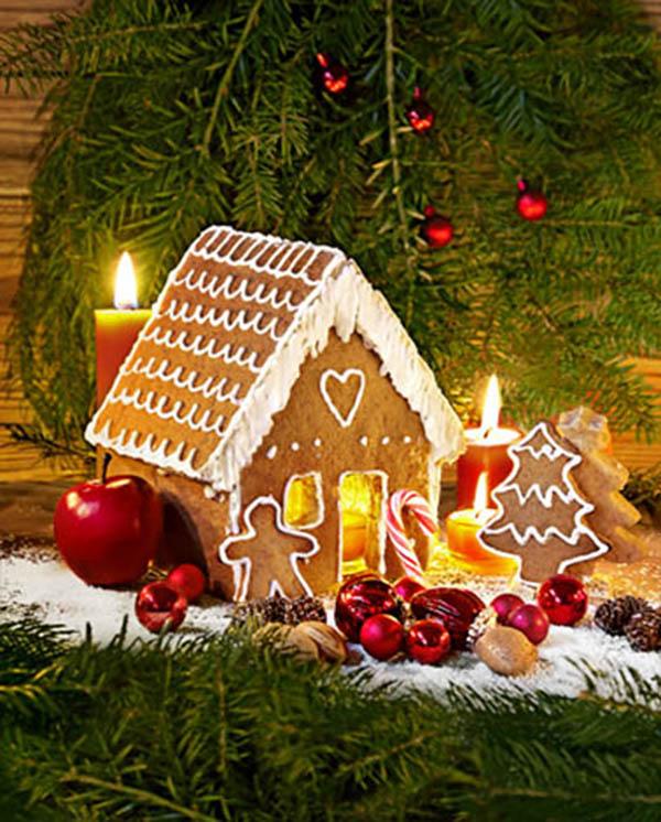Weihnachtliches Lebkuchenhaus